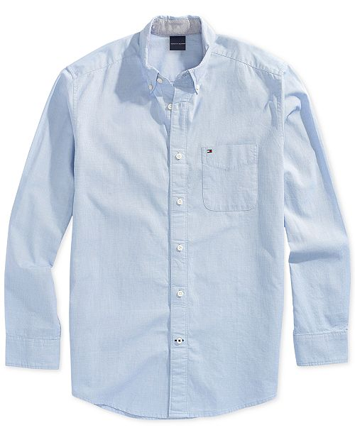 e423872f Tommy Hilfiger Men's Capote Shirt with Magnetic Buttons & Reviews ...