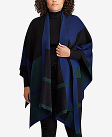 Lauren Ralph Lauren Plus Size Plaid Poncho