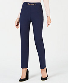 JM Collection Chain Waistband Pants, Created for Macy's