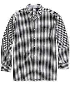 Men's Seated Fit Twain Check Shirt with Magnetic Buttons
