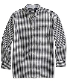 Tommy Hilfiger Adaptive Men's Seated Fit Twain Check Shirt with Magnetic Buttons