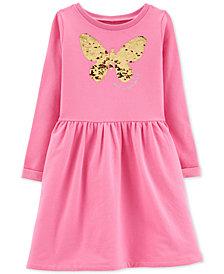 Carter's Little & Big Girls Sequin Butterfly Dress