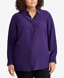 Lauren Ralph Lauren Plus Size Silk Shirt