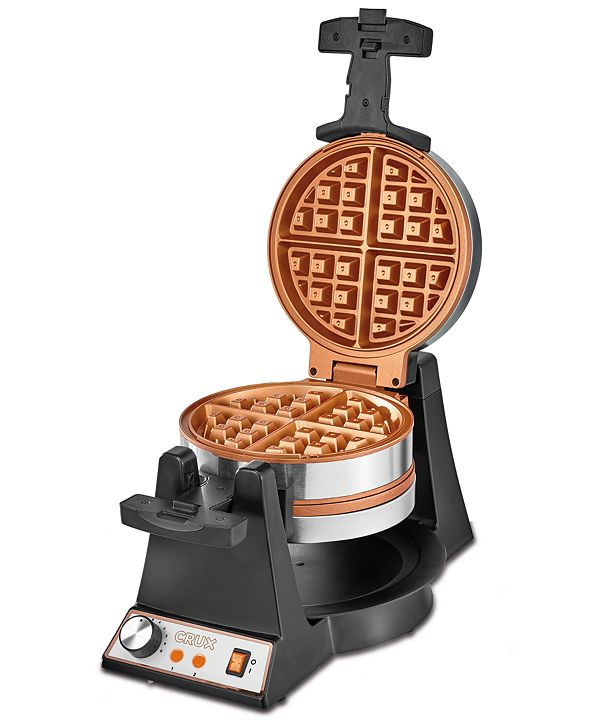 Crux Double Rotating Waffle Maker 14614, Created for Macy's