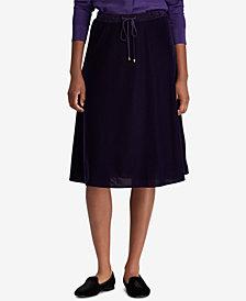 Lauren Ralph Lauren Velvet A-Line Skirt