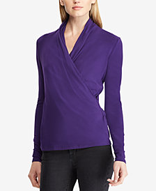 Lauren Ralph Lauren Wrap Top
