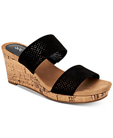 Style & Co Jacelin Wedge Sandals, Created for Macys