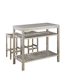Home Styles Stainless Steel Island Set