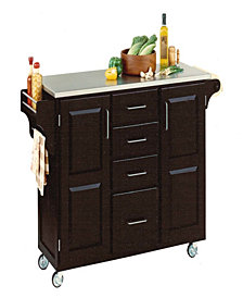 Home Styles Create-a-Cart Black Finish Stainless Top