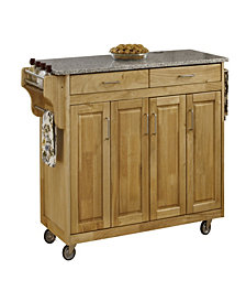 Home Styles Create-a-Cart Natural Finish Salt&Pepper Granite Top
