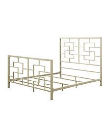 Tristen Geometric Queen Bed
