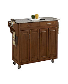 Home Styles Create-a-Cart Cottage Oak Finish Salt&Pepper Granite Top