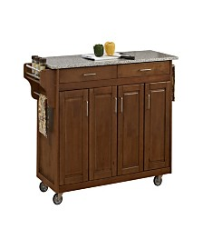 Home Styles Create-A-Cart Cottage Salt and Pepper Granite Top