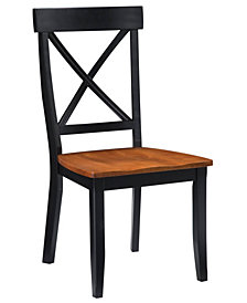 Home Styles Dining Chairs Black and Cottage Oak Finish, Pair