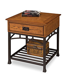 Home Styles Modern Craftsman Distressed Oak End Table