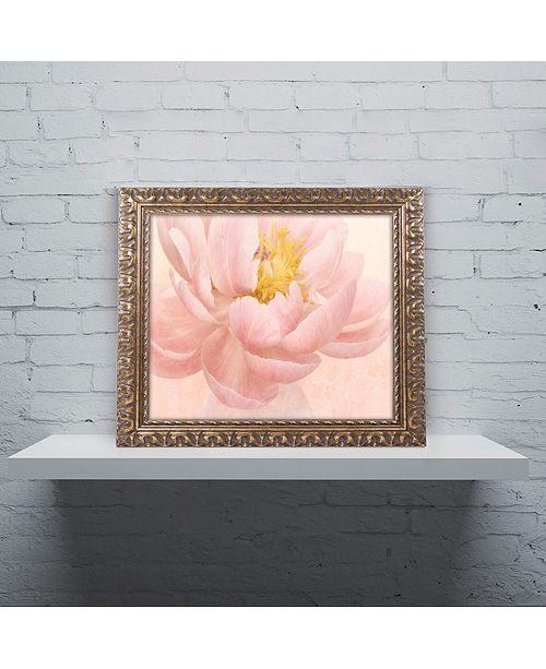 """Trademark Global Cora Niele 'Pink Peony' Ornate Framed Art, 11"""" x 14"""""""