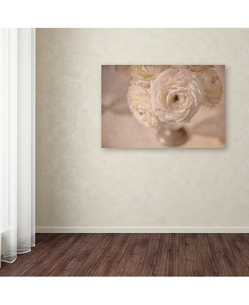 "Trademark Global Cora Niele 'White Persian Buttercup Still Life' Canvas Art, 16"" x 24"""