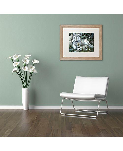 """Trademark Global Jenny Newland 'Tender Moment' Matted Framed Art, 11"""" x 14"""""""