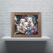 "Jenny Newland 'Lovable Westies' Ornate Framed Art, 11"" x 14"""