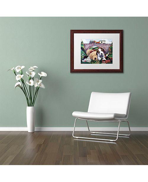"""Trademark Global Jenny Newland 'Choo, Choo, Chooed Out' Matted Framed Art, 11"""" x 14"""""""