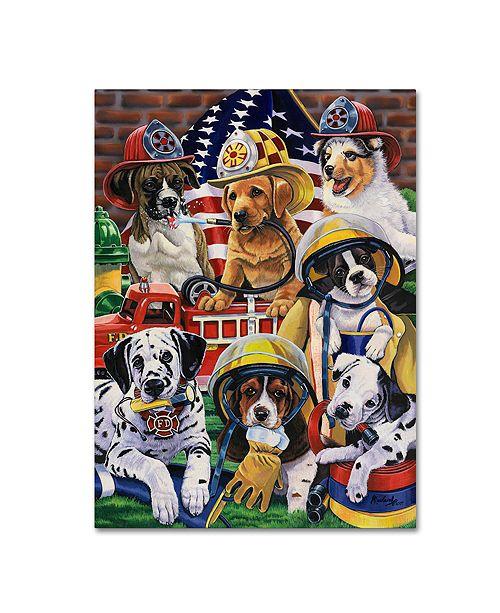 "Trademark Global Jenny Newland 'Hero Helpers' Canvas Art, 14"" x 19"""