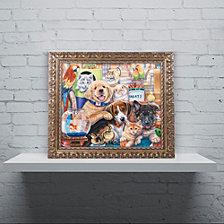 Jenny Newland 'Pet Shop' Ornate Framed Art