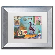 """Nick Bantock 'Giraffe' Matted Framed Art - 11"""" x 14"""""""