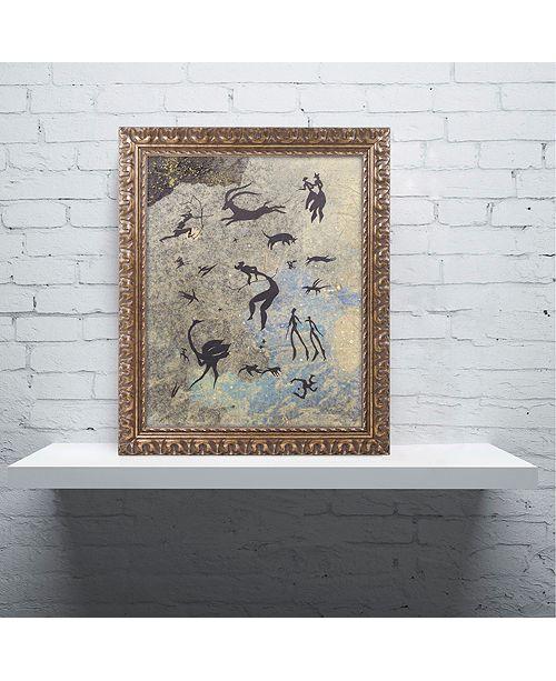"""Trademark Global Nick Bantock 'Handmade Petros' Ornate Framed Art, 16"""" x 20"""""""