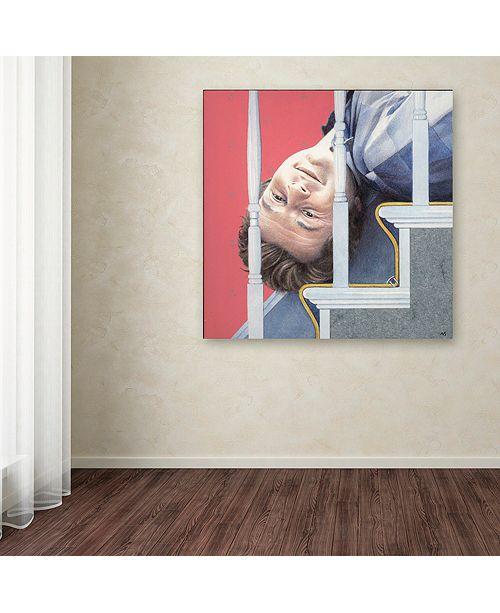 "Trademark Global Nick Bantock 'Man Down' Canvas Art, 24"" x 24"""
