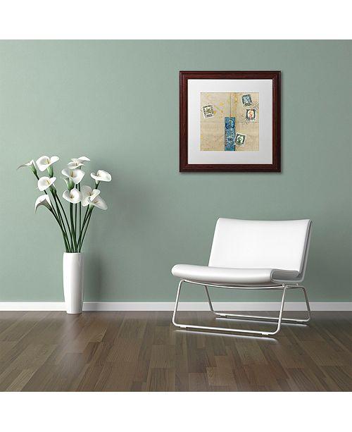 """Trademark Global Nick Bantock 'Middle East' Matted Framed Art, 16"""" x 16"""""""
