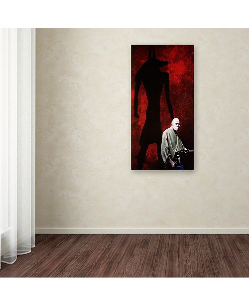 "Trademark Global Nick Bantock 'Anubis' Canvas Art, 12"" x 24"""