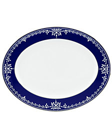 Marchesa by Lenox Dinnerware, Empire Indigo Oval Platter