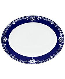 Marchesa by Lenox Dinnerware, Empire Indigo Oval Platter