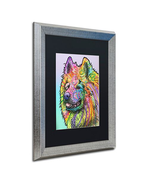 "Trademark Global Dean Russo 'Samoyed' Matted Framed Art, 16"" x 20"""