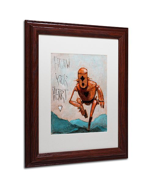 "Trademark Global Craig Snodgrass 'Follow Your Heart' Matted Framed Art, 11"" x 14"""