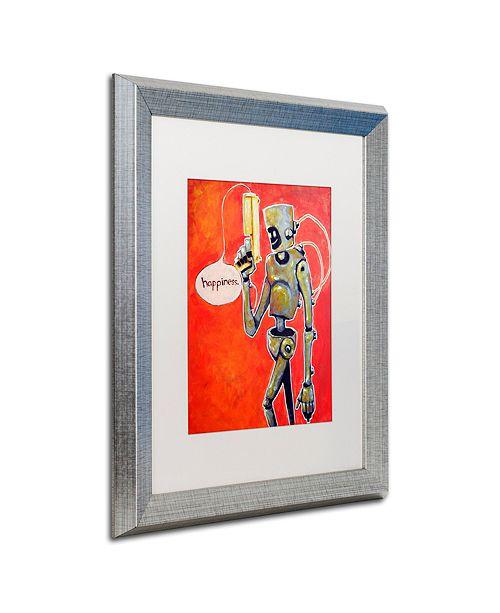 """Trademark Global Craig Snodgrass 'Happiness' Matted Framed Art, 16"""" x 20"""""""