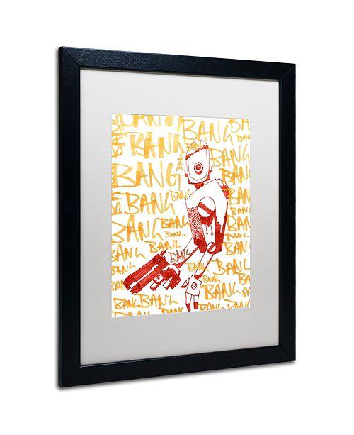 """Trademark Global Craig Snodgrass 'Bang Bang Bang' Matted Framed Art, 16"""" x 20"""""""