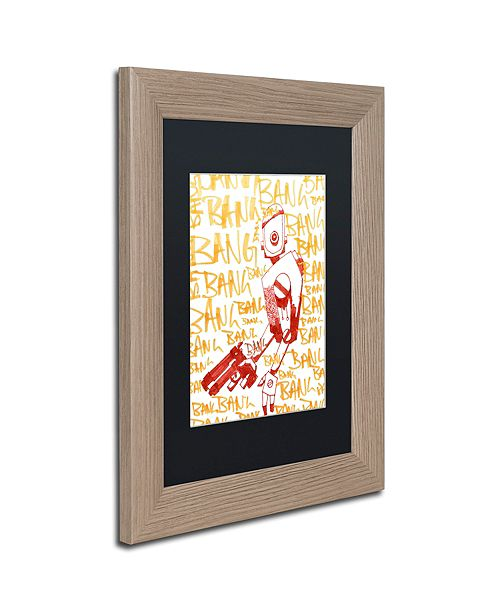 "Trademark Global Craig Snodgrass 'Bang Bang Bang' Matted Framed Art, 11"" x 14"""