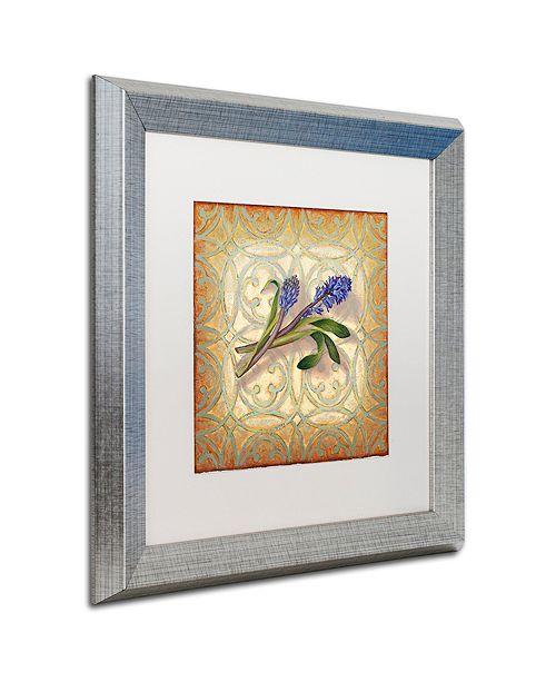 "Trademark Global Rachel Paxton 'Purple Hyacinth' Matted Framed Art, 16"" x 16"""