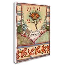 """Rachel Paxton 'Mink Meadows Butterfly' Canvas Art, 14"""" x 19"""""""