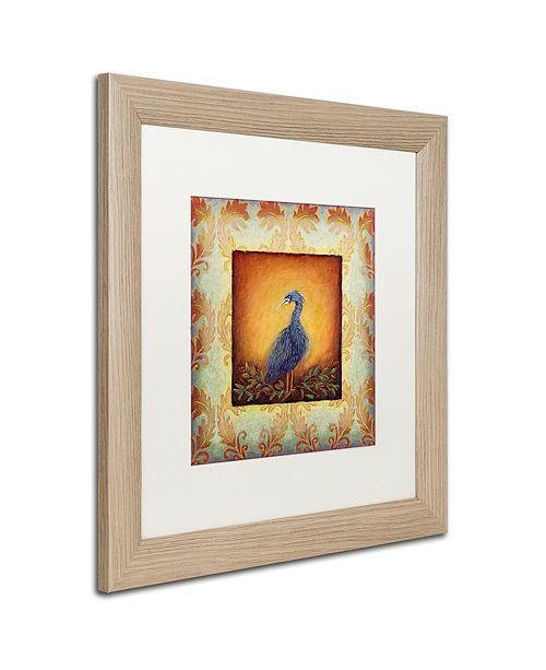 """Trademark Global Rachel Paxton 'Woodside Heron' Matted Framed Art, 16"""" x 16"""""""