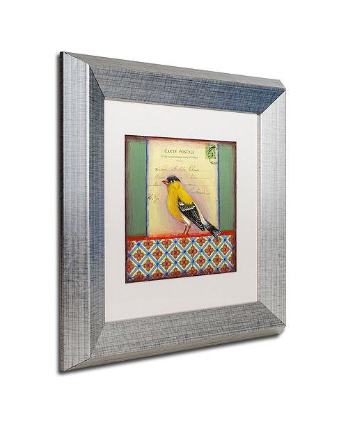 """Trademark Global Rachel Paxton 'Small Bird 214' Matted Framed Art, 11"""" x 11"""""""