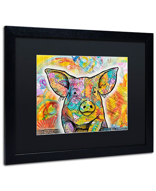 "Trademark Global Dean Russo 'The Pig' Matted Framed Art, 16"" x 20"""