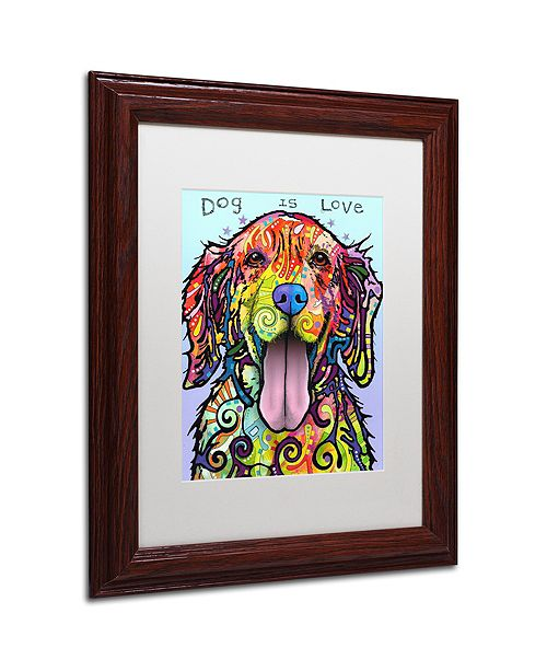 "Trademark Global Dean Russo 'Dog Is Love' Matted Framed Art, 11"" x 14"""