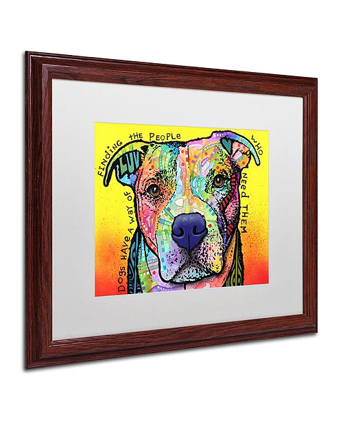 "Trademark Global Dean Russo 'Dogs Have A Way' Matted Framed Art, 16"" x 20"""
