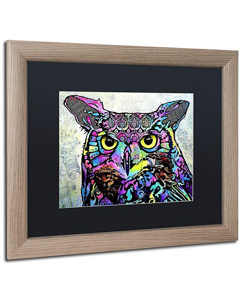 "Trademark Global Dean Russo 'The Owl' Matted Framed Art, 16"" x 20"""