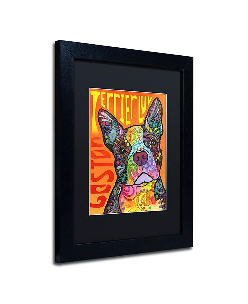 "Trademark Global Dean Russo 'Boston Luv' Matted Framed Art, 11"" x 14"""