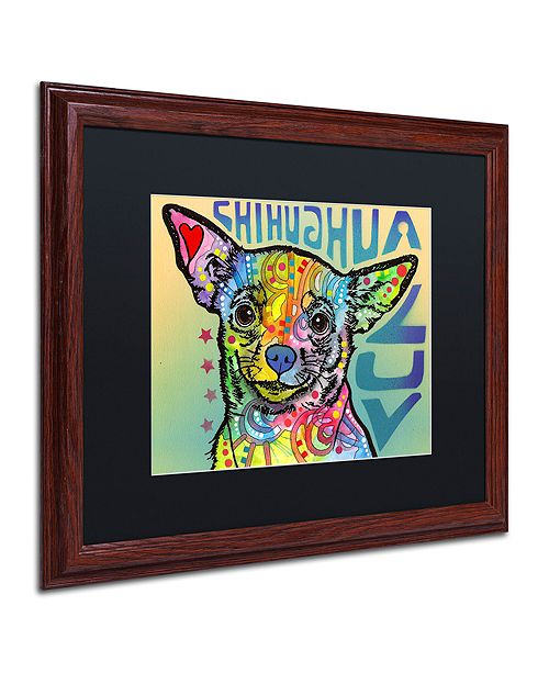 "Trademark Global Dean Russo 'Chihuahua Luv' Matted Framed Art, 16"" x 20"""