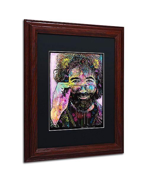 """Trademark Global Dean Russo 'Jerry Garcia' Matted Framed Art, 11"""" x 14"""""""