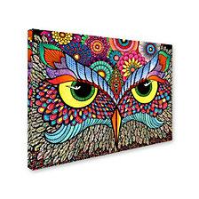 Hello Angel 'Owl Face' Canvas Art